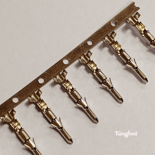 Kingfont's conventional Male Pins with stamping strip